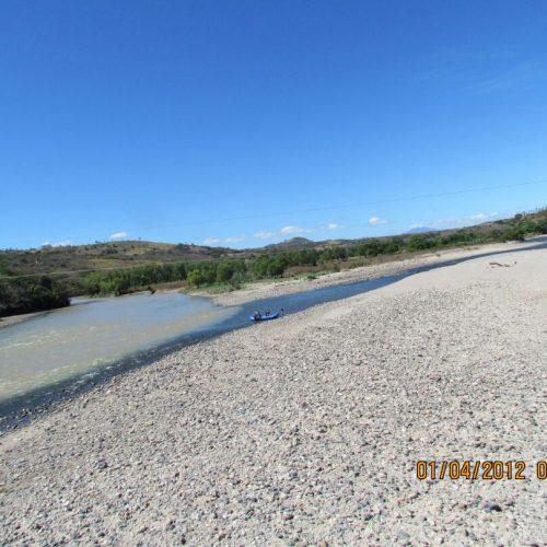 Desembocadura del Río Guajoyo en el majestuoso Río Lempa